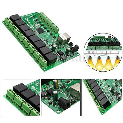 8 Channel Network IP Relay Web Dual Control Ethernet RJ45 interface Module Board