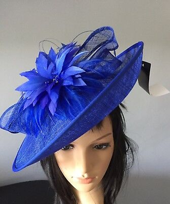 Nigel Rayment Royal Blue Disc Fascinator Hat Occasion Mother Of The Bride