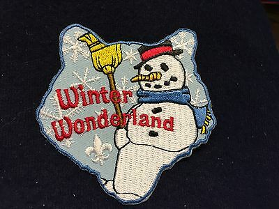 Boy Scouts -  Winter Wonderland - cub scout activity patch