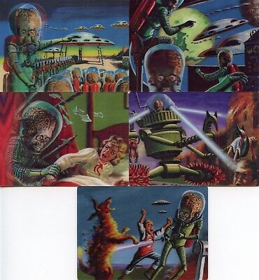 Mars Attacks 3-Dimension Chase Card Set 5 Cards