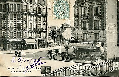 Carte Postale / Les Vallees Place De La Gare
