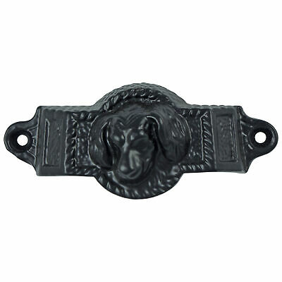 Cast Iron Dog Bin Pull Antique Vintage Cabinet Hardware replica