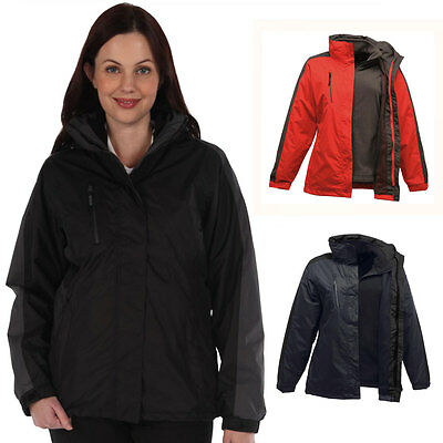 56% OFF RRP Regatta Womens Chadwick 3-in-1 Waterproof Jacket Removable Fleece