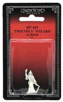 Ral Partha RP-445 Friendly Wizard with Mace (Player Character) Cleric Sorcerer