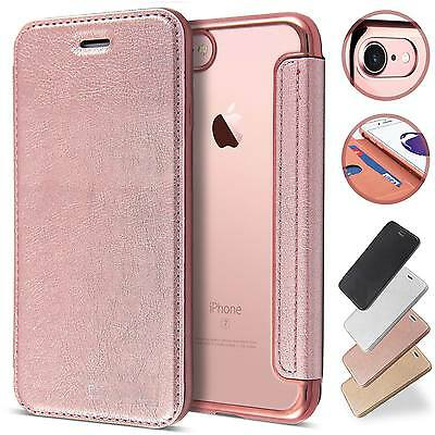 Slim Book Leather Clear TPU Wallet Flip Cover Case For iPhone 11 Pro Max XS 8 7