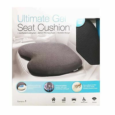 WINPLUS Ultimate Gel Support Seat Cushion with Deluxe Memory Foam Car or Office