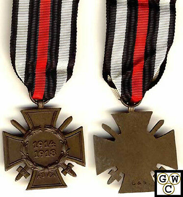 German WWI Combatant's Honour Cross With Swords (10572)