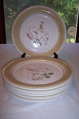 Set of 6 Impressions by Daniele Country Day Genuine Stoneware Dinner Plates