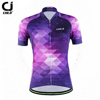CHEJI Women Cycling Jersey Top Purple Breathable Roupa Ciclismo Outdoor Sports