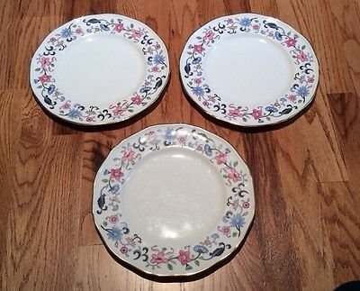 S/3 Wedgwood Bone China  Bainbridge Dinner Plates, Good Condition