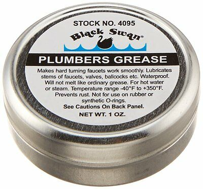 Black Swan, Grease Faucet Stem And Valve Plumbers O'ring Grease Lubricant 1Oz