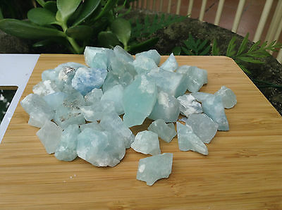 Rough Raw Aquamarine lot parcel  Natural crystal wholesale gemstone 300grams