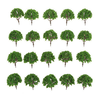 20pcs Trees Model Train Garden Forest Scenery 1:75 HO Scale 8cm SA80-109
