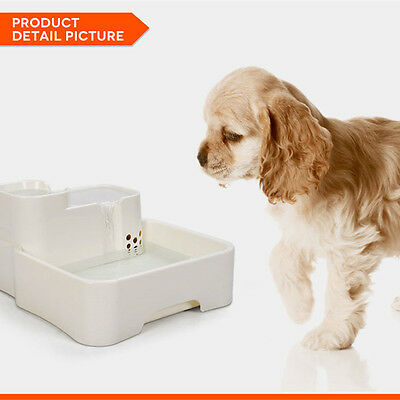 4L Automatic Dog Cat Pet Water Drinking Drinker Fountain Bowl Feeder  US/AU/EU