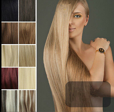 """15"""" 18"""" 20"""" 7pcs/set  Full Head Clip in 100% Remy Human Hair Extensions"""