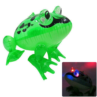 Inflatable Glow Frog - 37cm - Blow Up Toy Loot/Party Pool Bag Fancy Green Dress