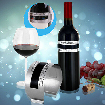 Stainless Steel LCD Electric Red Wine Digital Thermometer Temperature Meter SW