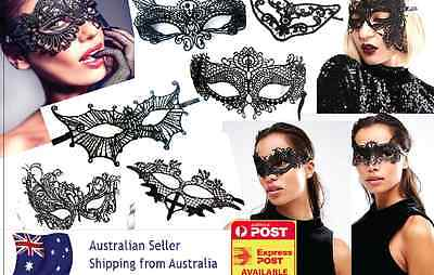 NEW 48 Sexy Black Lace eye masks Ladies Masquerade Ball Costume Party Fancy OZ