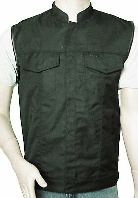Textile Patch Holder Vest with Zip and Snap Front