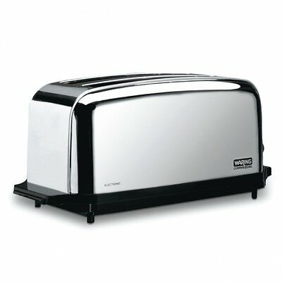 Waring WCT704 Commercial Light Duty 4 Slice  2 Slot Toaster 1 Year Warranty