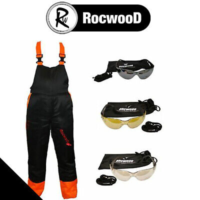 Chainsaw Protection Forestry Safety Protection Bib And Brace Trousers & Glasses