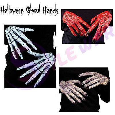 Adult Men Halloween Devil Ghoul Monster Gloves Halloween Ghoul Horror Hands