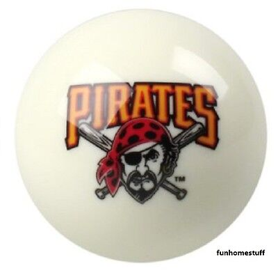 New Pittsburgh Pirates White Mlb Billiard Game Table Replacement Pool Cue 8 Ball