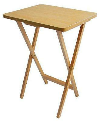 Strong Wooden Folding Table For Tv Laptops Dinners & More New