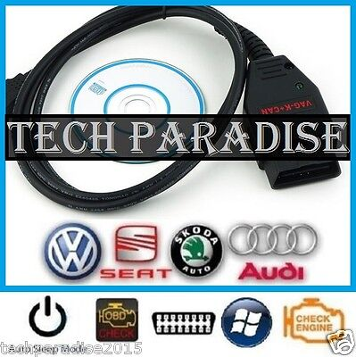 Interface Valise diagnostic VW K+CAN COM OBDII USB Skoda VAG Commander 12.12 FR
