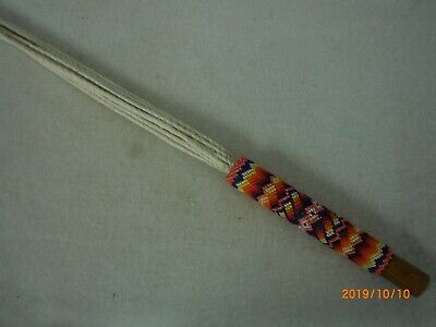 Beaded Native American Fan Handle, Large                                    bfh3
