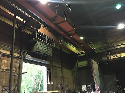 Wright 30 Ton Double Girder Top Running Overhead Bridge Crane Approx 70' long