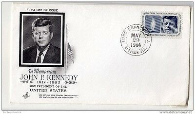 USA 1964 JFK Mourning Cover FDI X3502