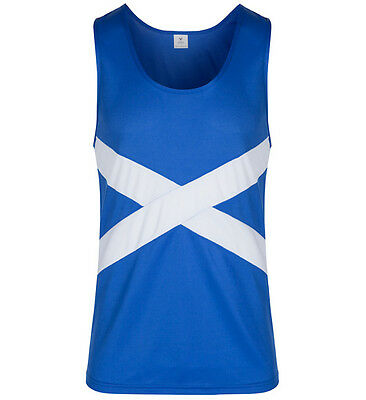 Footworks Viga Scotland Saltire Patriotic Running Vest Multisport RRP £19.99