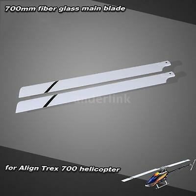 Fiber Glass 700mm Main Blades for Align Trex 700 RC Helicopter White Hot B5K5