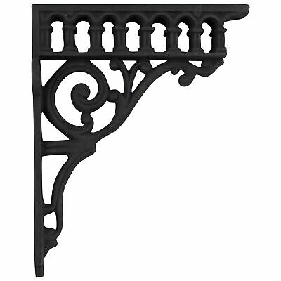 Victorian Cast Iron Shelf Bracket antique vintage REPRODUCTION black