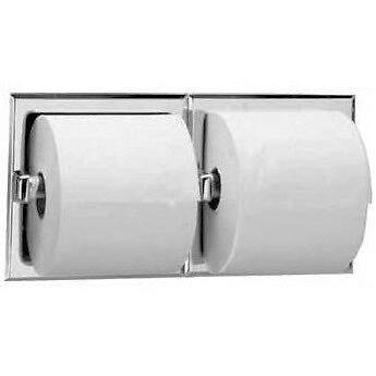 Bobrick B-6977 Recessed Toilet Tissue Dispensers For Double Roll