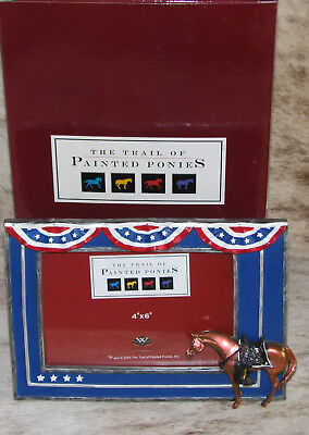 TRAIL OF PAINTED PONIES Fallen Heroes Memorial Pony PICTURE FRAME for 4x6 photo