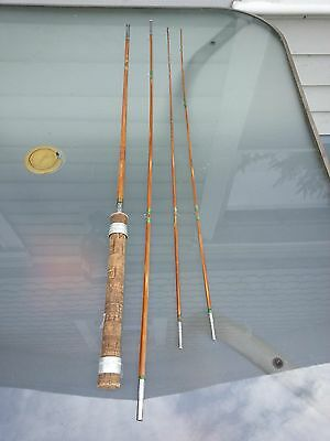 INTERESTING Vintage Fishing Split Bamboo Fly Casting Rod #4