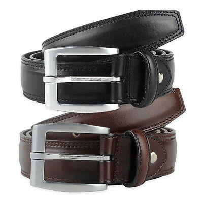 Belt Dress Mens Big and Tall Set of 2 Black Brown Gift Idea New Free Shipping
