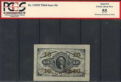 Fr1253Sp 10¢ 3Rd Issue F.c. Specimen Pcgs 55 Apparent Choice About New Bt2544
