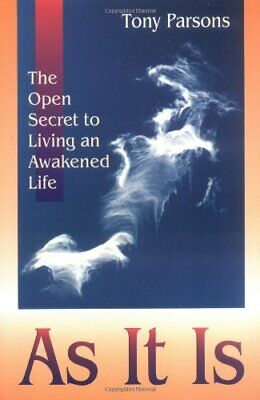 As It Is: The Open Secret of Spiritual Awakening by Tony Parsons Paperback Book