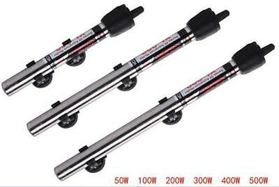 220V Submersible Stainless Steel Water Heater Rod Aquarium Fish Tank 50W~500W