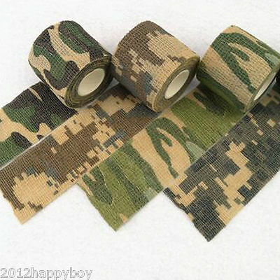 1X Army Camo Fans Wrap Rifle Shooting Hunting Camouflage Hide Tape Bicycle Decor