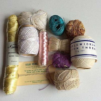 Vintage Sewing Crochet Threads LOT