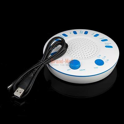 White 9 Sounds Sound Spa Relax Machine Sleep Noise Nature Peace Therapy