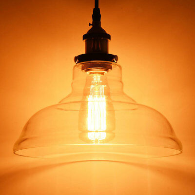 Industrial Pendant Lamp Vintage Chandelier Ceiling Light Fixture Pendant Glass