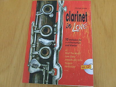 Clarinet in Love (Christoph Schröer) 10 Balladen für Klarinette mit Piano mit CD