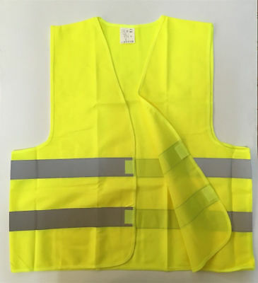 XL Safety Vest High Visibility Yellow Night Work Security with Reflective Strips
