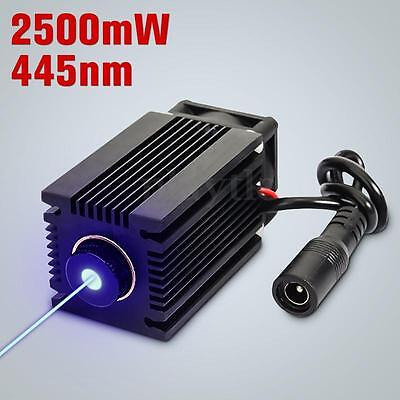 445nm 2.5W 2500mW Blue Laser Module With Heatsink For DIY Laser Cutter Engraver