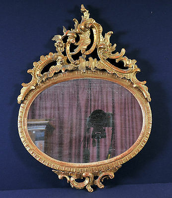 Gilded nicely carved frame in rococo style, 19th century